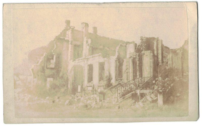 CDV - Guerre 1870 - Sedan - Bataille - Destruction - Franco-Prussian War - Napoléon III - Bismarck