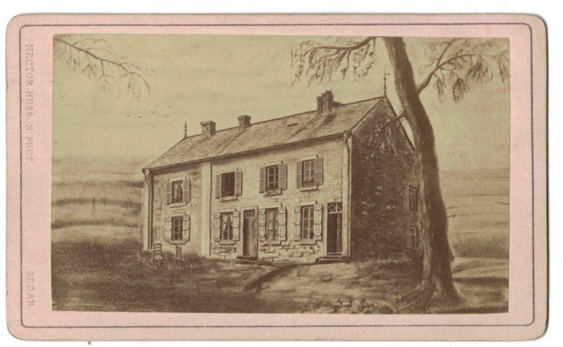 CDV - Guerre 1870 - Maison de Donchery - Sedan - Capitulation - illustration - Franco Prussian War - Napoleon III - Bismarck