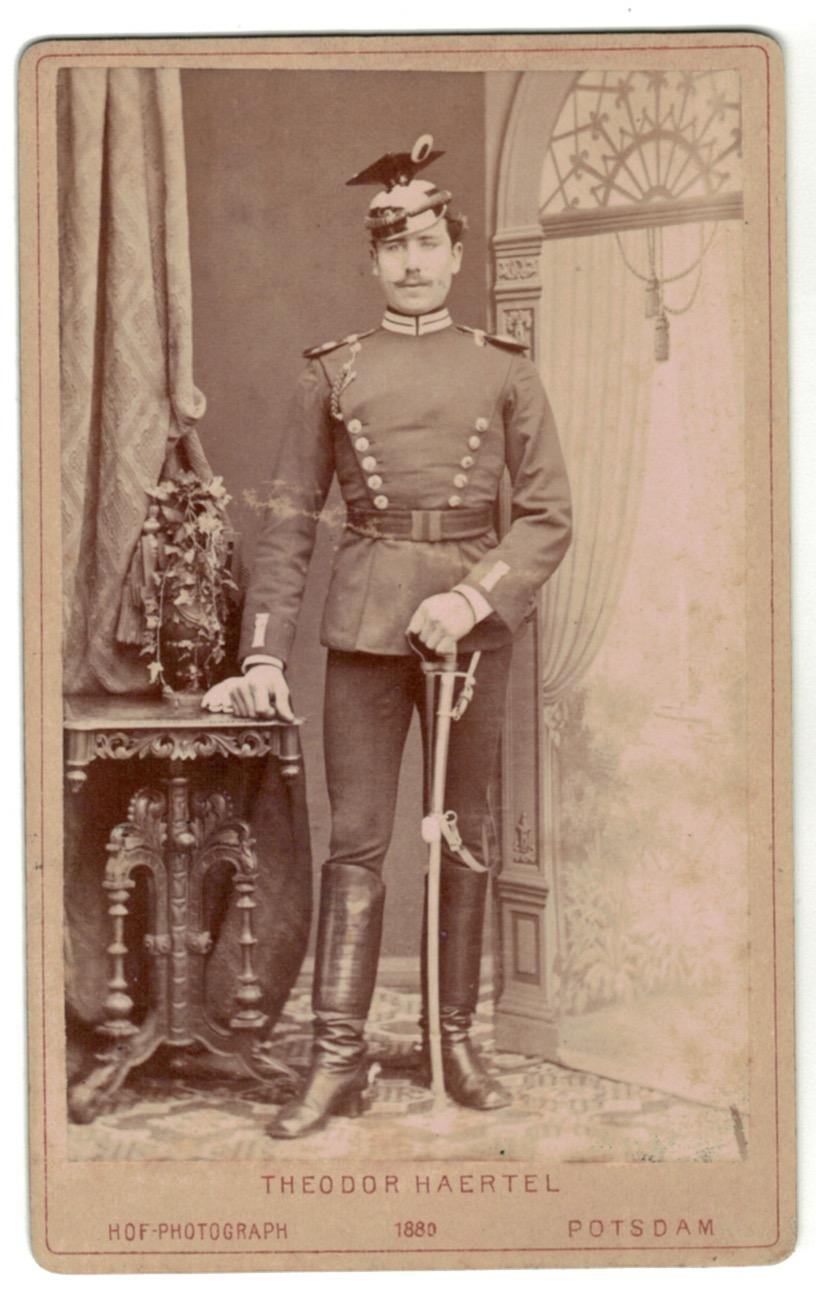 CDV Soldat Allemand - Armée Cavalerie - Grande tenue - Uhlan Garde - Sabre - Berlin Potsdam -