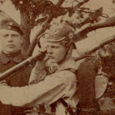 Photo Soldat Allemand - 1898 - Service Militaire - Prusse - Vie de caserne - Baïonnette - Sapeur - Guerre 14/18
