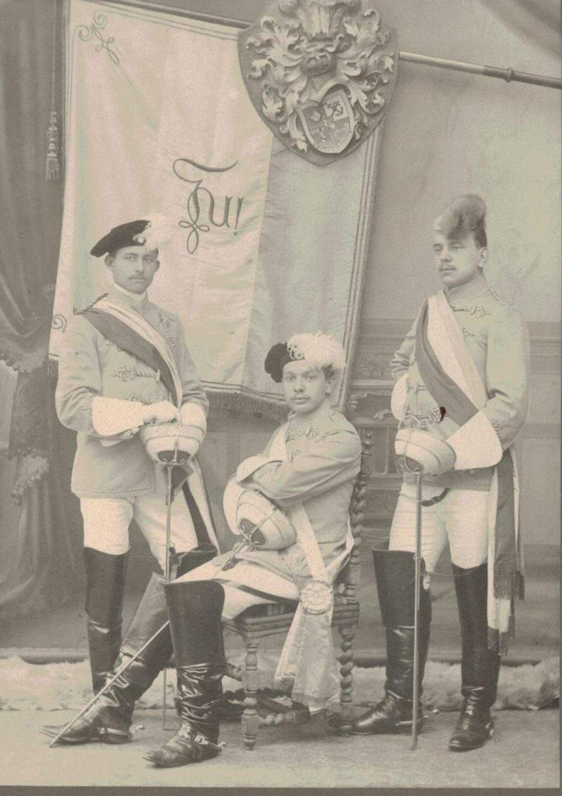 CDV Etudiant Allemagne XIX - Strasbourg - 1880 - Studentenverbindungen - Mensur