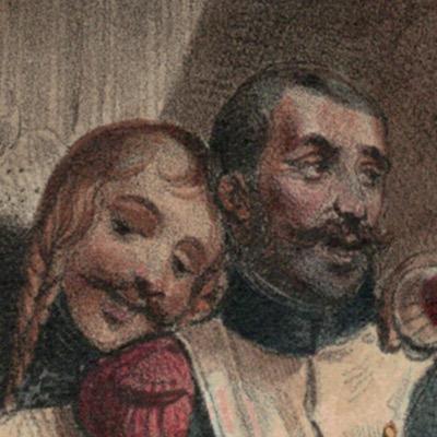 Gravure XIX - Cavalier - Restauration 1815/1830 - Charlet, Nicolas Toussaint - Hippolyte Bellangé - Victor Adam - Vie du Soldat - Militaire