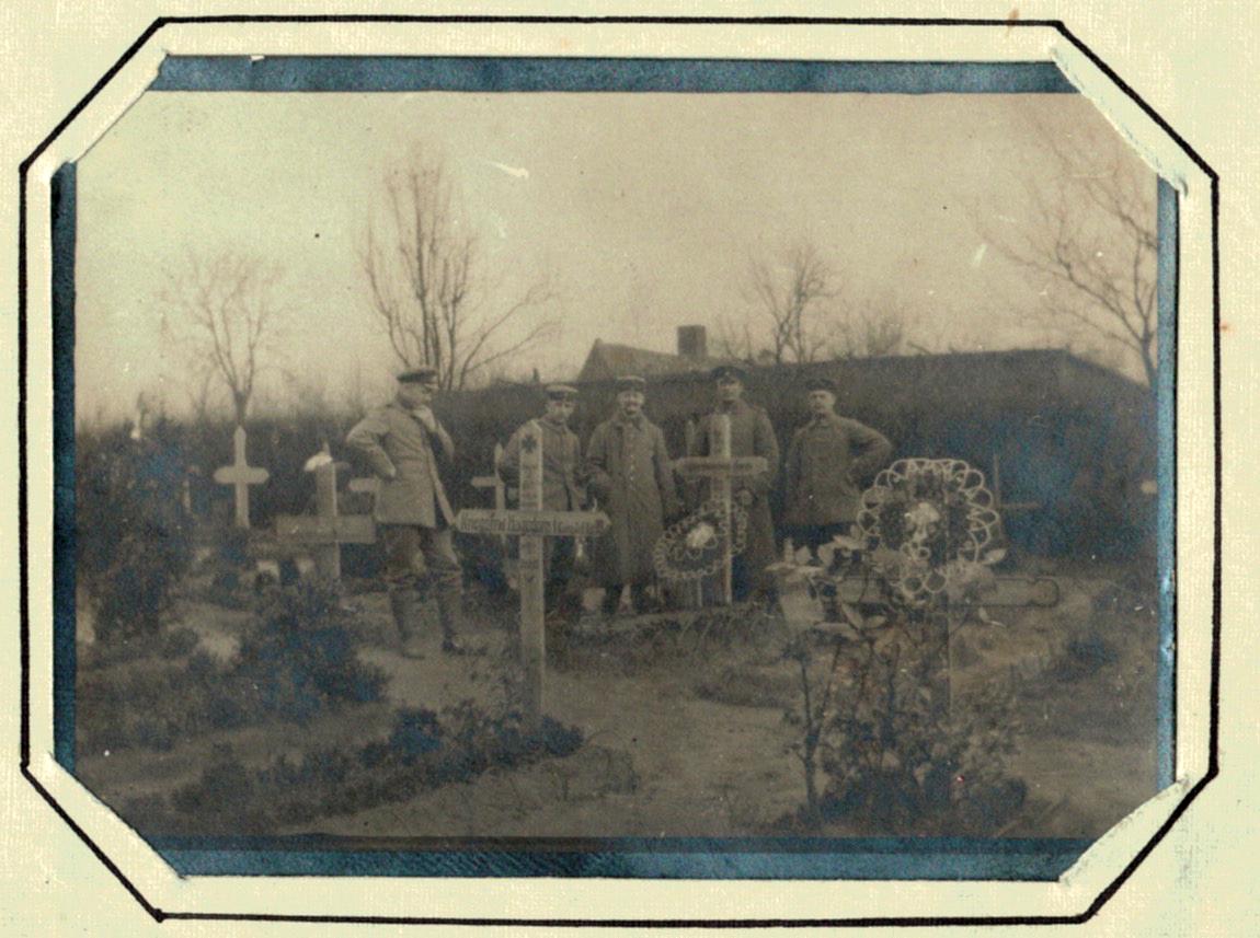 Photo lettre- Soldat Allemand - Guerre 14/18 - Deuil - Cimetière - Poème - Camarade - 1914 - 1915