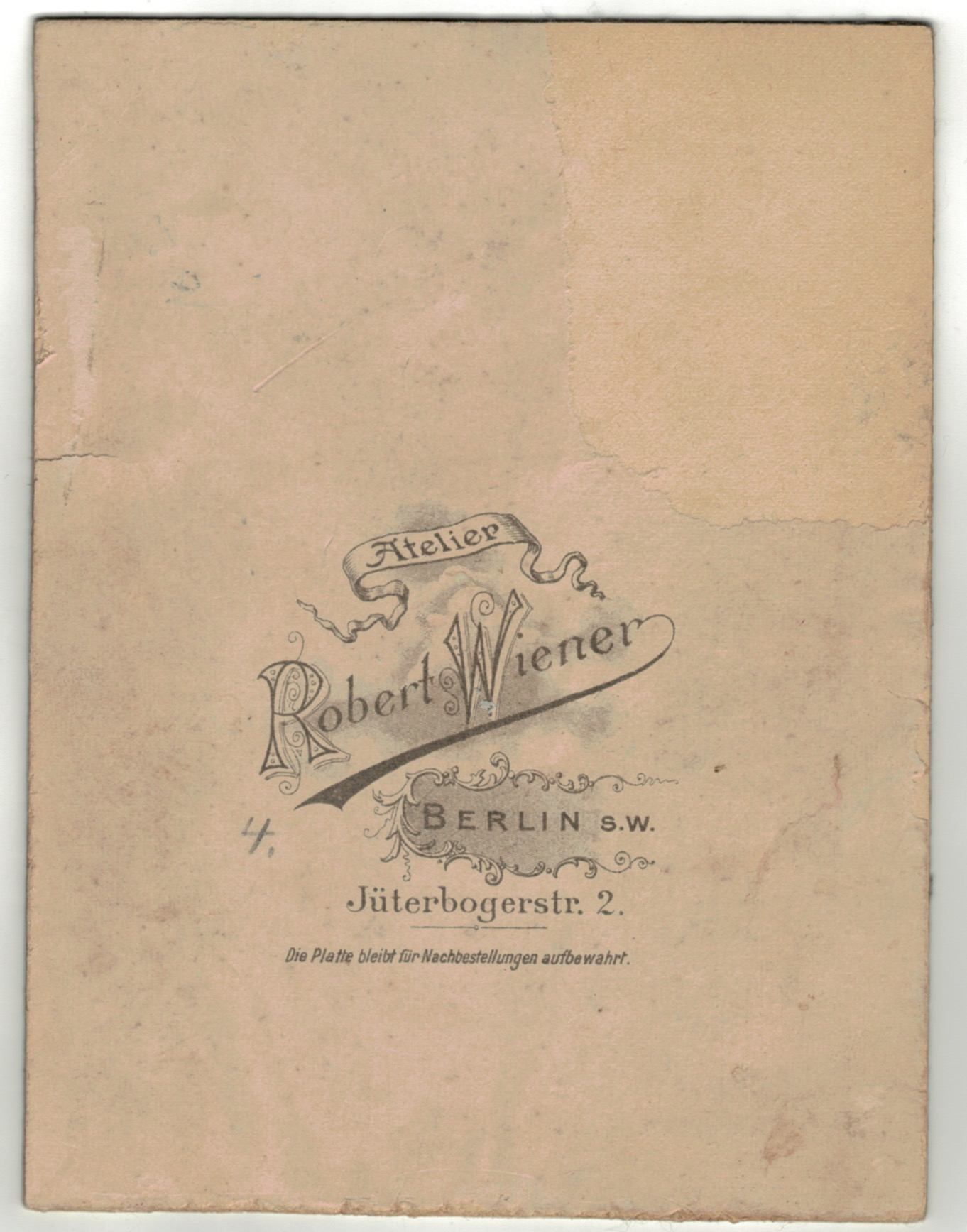 Carte CDV photo Soldat Allemand Infanterie - Réserviste - Service Militaire Berlin - Prusse - Garde Impériale - Garde Grenadier régiment N°4 - K.Augusta - Königin Augusta Garde-Grenadier-Regiment Nr. 4