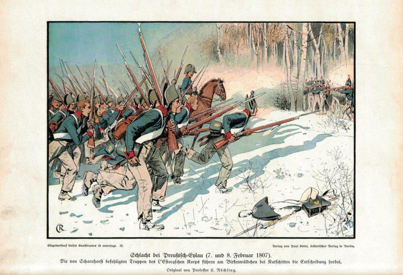 Die Befreiungskriege 1813- Richard Knoetel - Carl Röchling - 8 planches gravures - Uniforme - Armée - Histoire uniforme