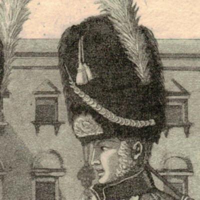 Gravure XIX - SEELE, VOLZ und EBNER - Troupes Françaises - Garde Grenadier - Uniforme - 1er Empire - Cira 1810