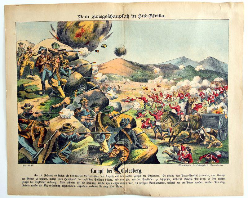 Planche imagerie - Neu-Ruppin, Bei Oehmigke & Riemschneider - Fin XIX - Guerre de Boers - Süd Afrika.