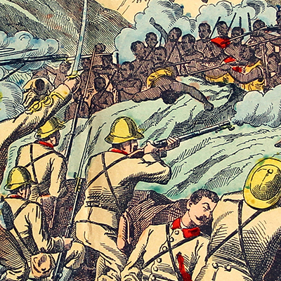 Planche imagerie Wissembourg - C.Burckardt - Guerre Italie - Guerre Ethiopie - 1887/1889 - Image Populaire