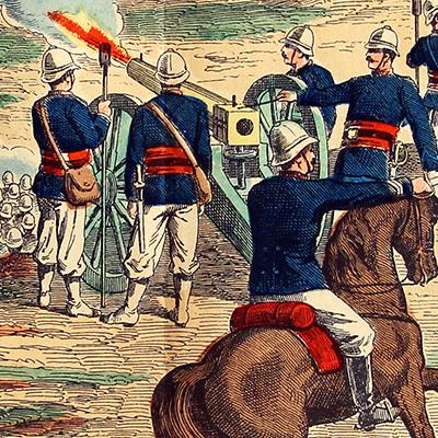 2 Planches imagerie Wissembourg - C.Burckardt - Guerre de Madagascar - Armée Française - Colonie - Antananarivo - Marsouins - Infanterie Coloniale - 1897