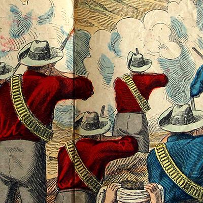 Planche imagerie Wissembourg - C.Burckardt - Guerre des Boers - Armée Angleterre - 1880 - Transvaal