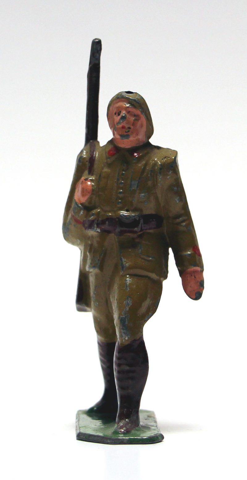 1 Ancienne Figurine Plomb Creux 1940/50 - Infanterie de Forteresse - Guerre 1940 - Armée Française - Peinture d'origine