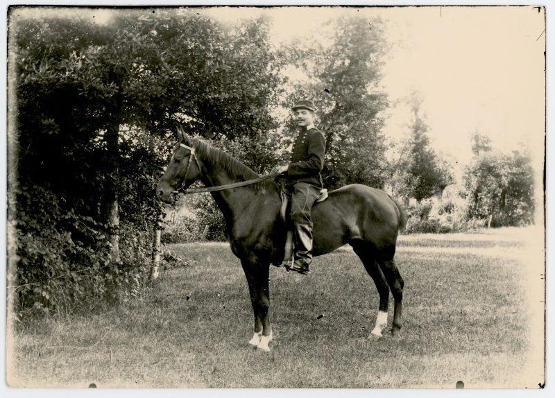 Photo papier originale - 1898 - Dragons - Uniforme - France - Famille - Cavalier - Guerre 14/18
