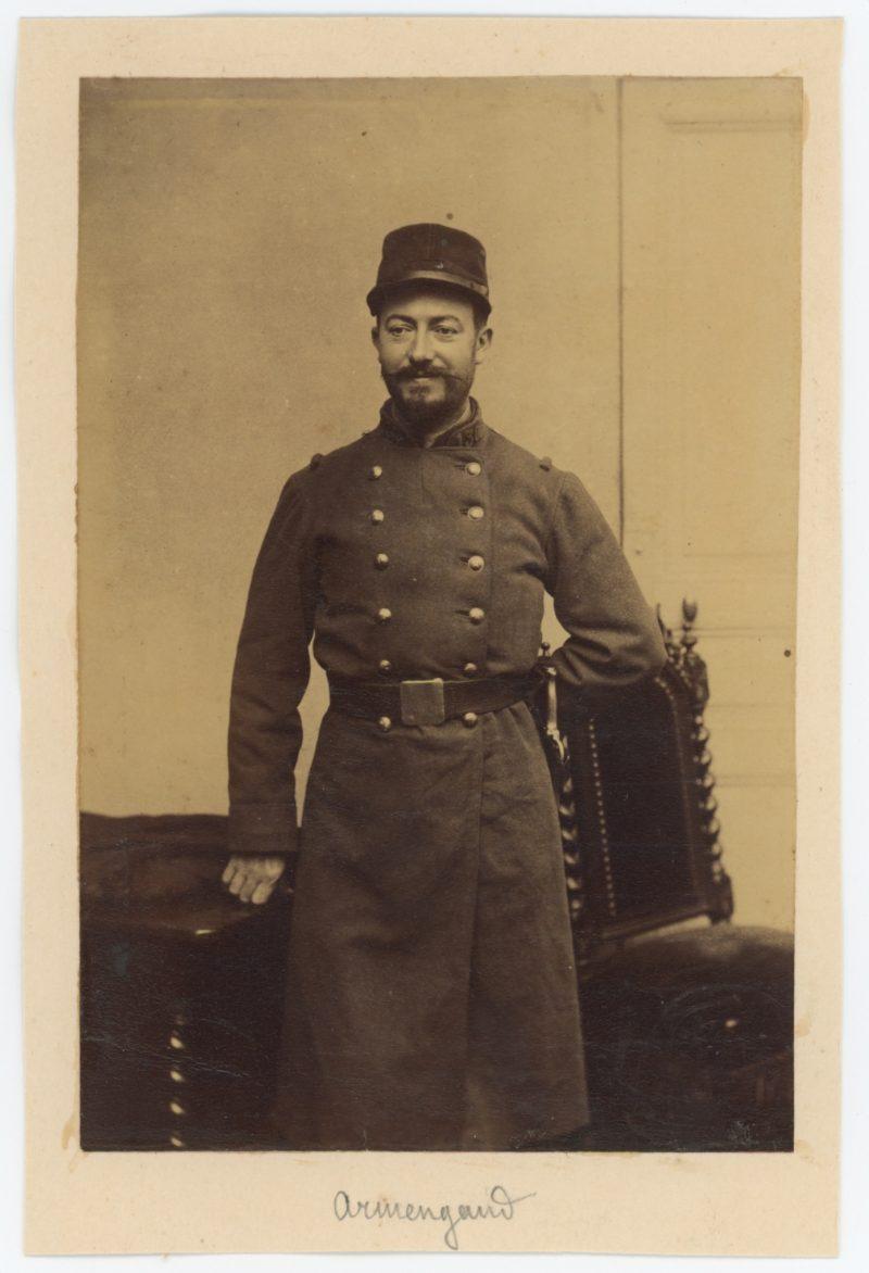 Ancienne Photographie - Soldat Infanterie 130 régiment - 3ème République - Papier Albuminé