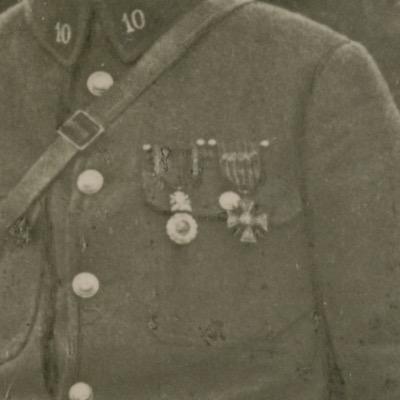 Tirage photo Soldat Français - Photographie Guerre 14/18 - Poilu - Médaille Militaire - Chasseur à Pied - Campagne