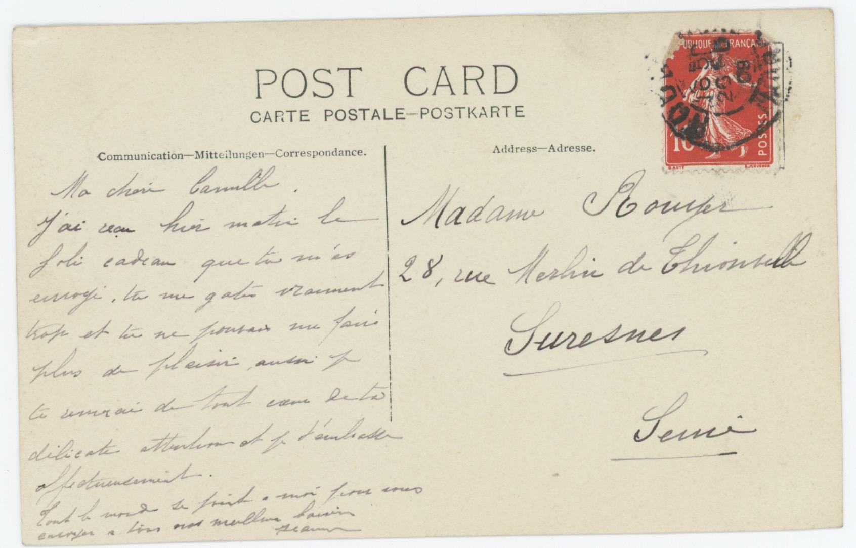 Carte photo Soldat Français - Vie militaire Mariage - Lieutenant Chasseur a Pied - Intérieur - Kepi - Plume de Coq - 1900