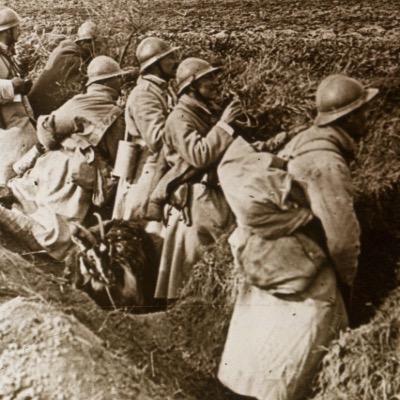 Photo Plaque Stéréo - Guerre 14/18 - Conflit - Tranchée - Vue Stéréoscopique - Poilu - Uniforme - Document actualité