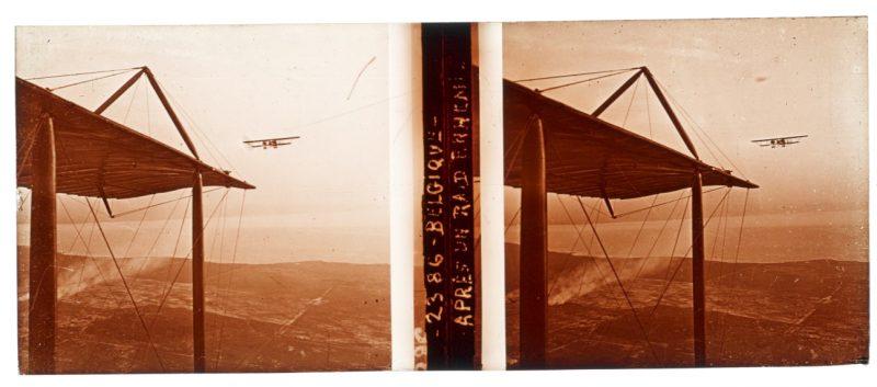 Photo Plaque Stéréo - Guerre 14/18 - Conflit - Tranchée - Vue Stéréoscopique - Poilu - Uniforme - Document actualité - 014