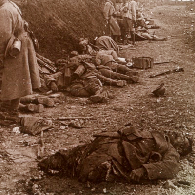 Photo Plaque Stéréo - Guerre 14/18 - Conflit - Tranchée - Vue Stéréoscopique - Poilu - Uniforme - Document actualité - 013