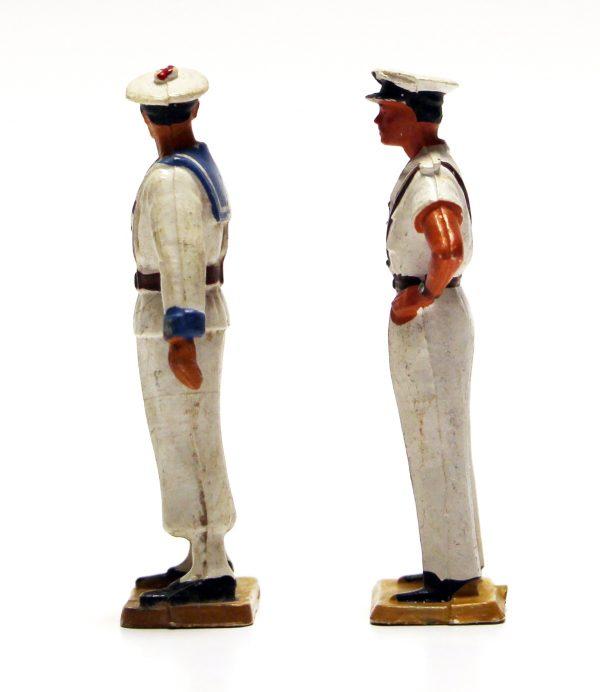2 Figurines Starlux 1970 Marin Français Marine Nationale