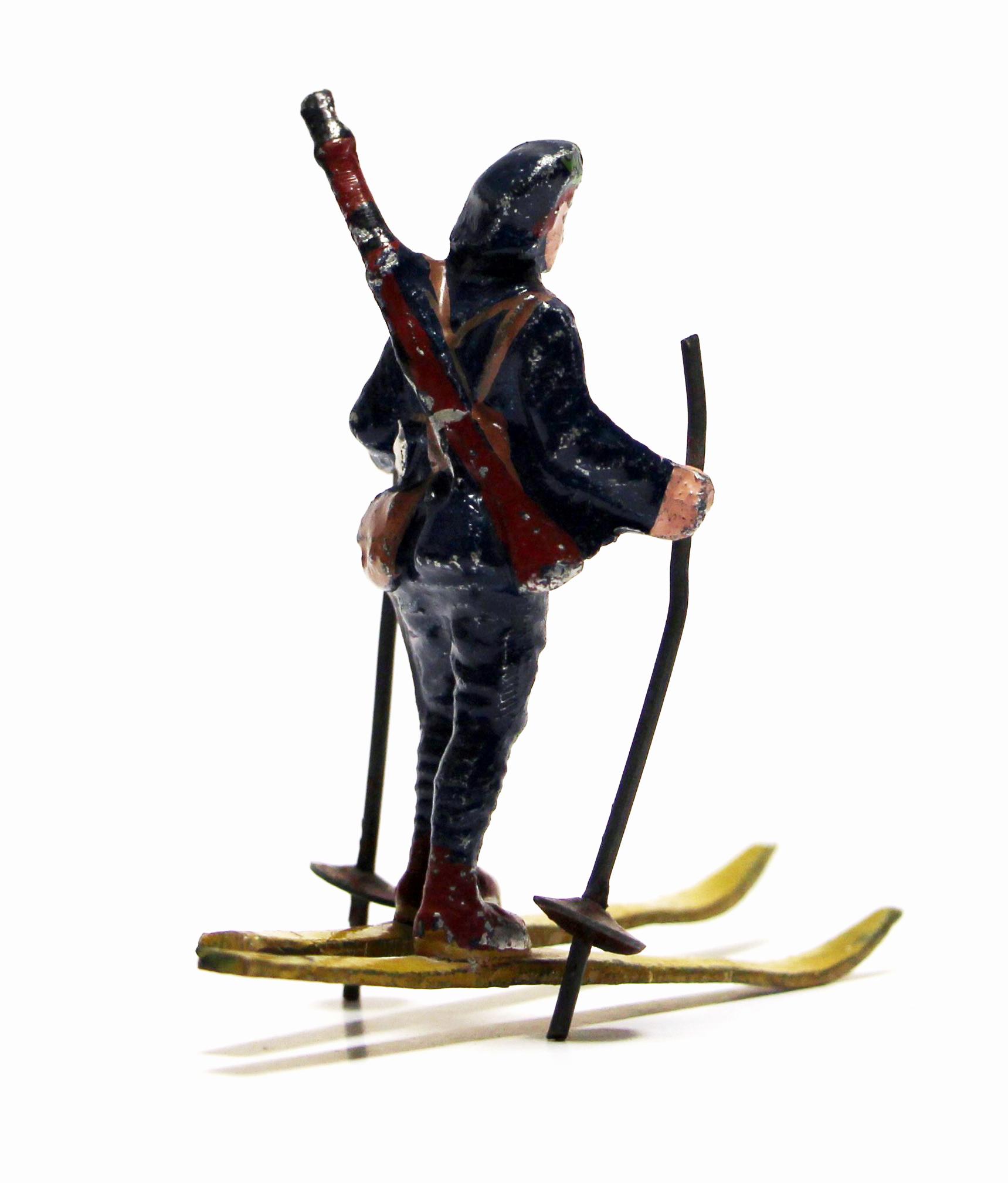 Figurine Quiralu ancienne Skieur Chasseur Alpin 1940