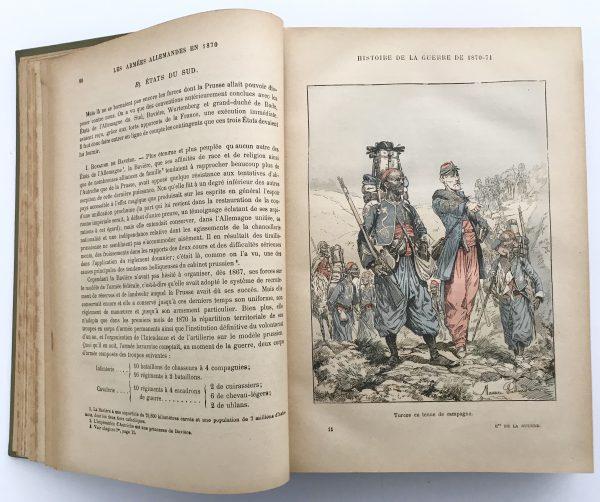 Histoire Populaire de la Guerre de 1870/1871. Lt Colonel Rousset. Tome 1 seul Illustration de Maurice Pallandre.