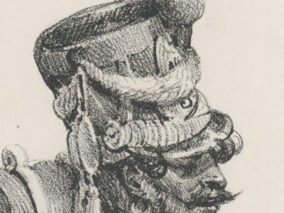Gravure Lithographie de Charlet - Voltigeur - Infanterie de ligne 1809 - 1er Empire - Napoleon 1er - Tambour - Grande tenue