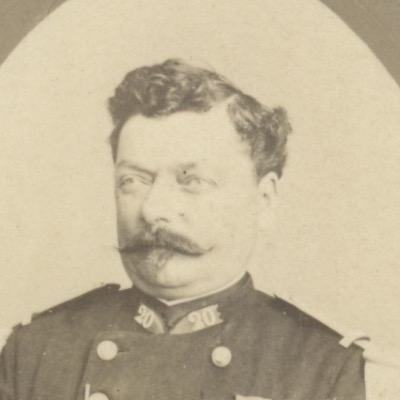 CDV - Ancienne Photographie - Portrait - Officier - 1870/1871 - 3ème République - Légion Honneur - Epaulette - 20ème régiment