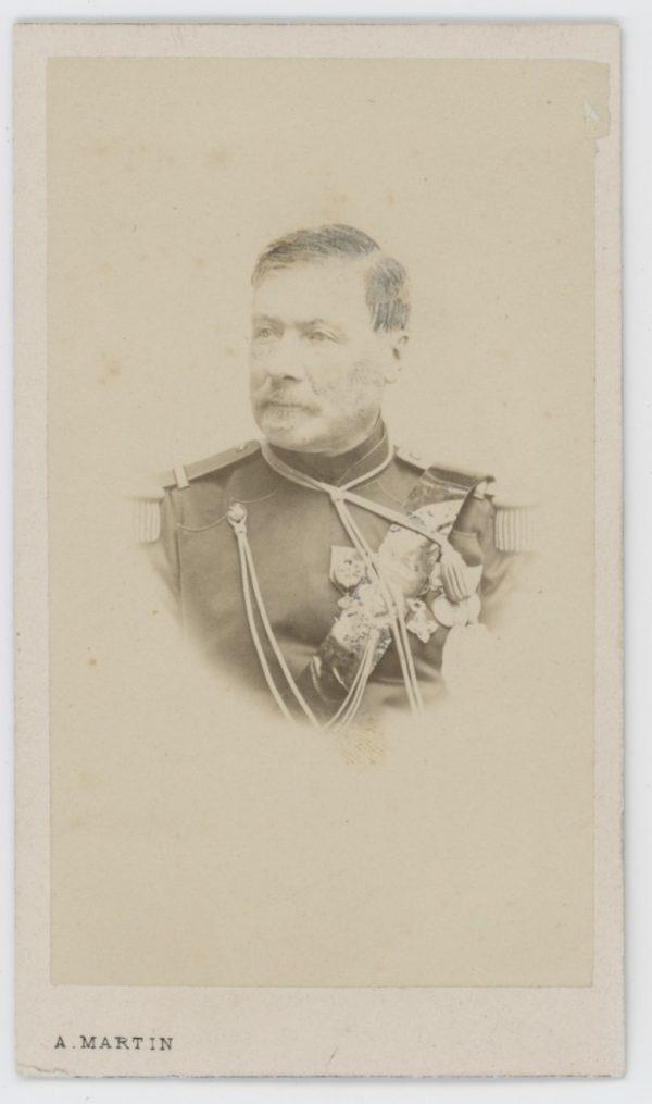 CDV - Ancienne Photographie - Portrait Officier Lancier de la Ligne - Légion d'Honneur - Second Empire - Napoleon III