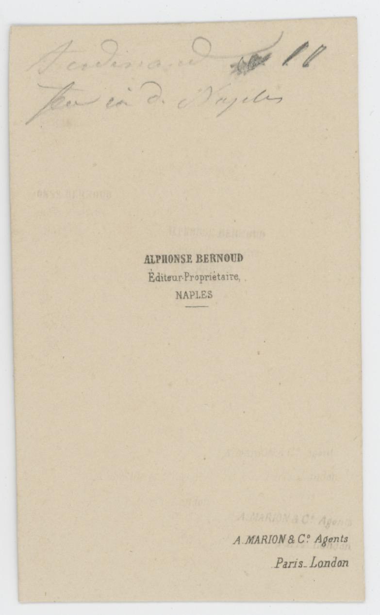 CDV - Ancienne Photographie - Portrait Officier Infanterie - Naples - Second Empire - Napoleon III - A définir