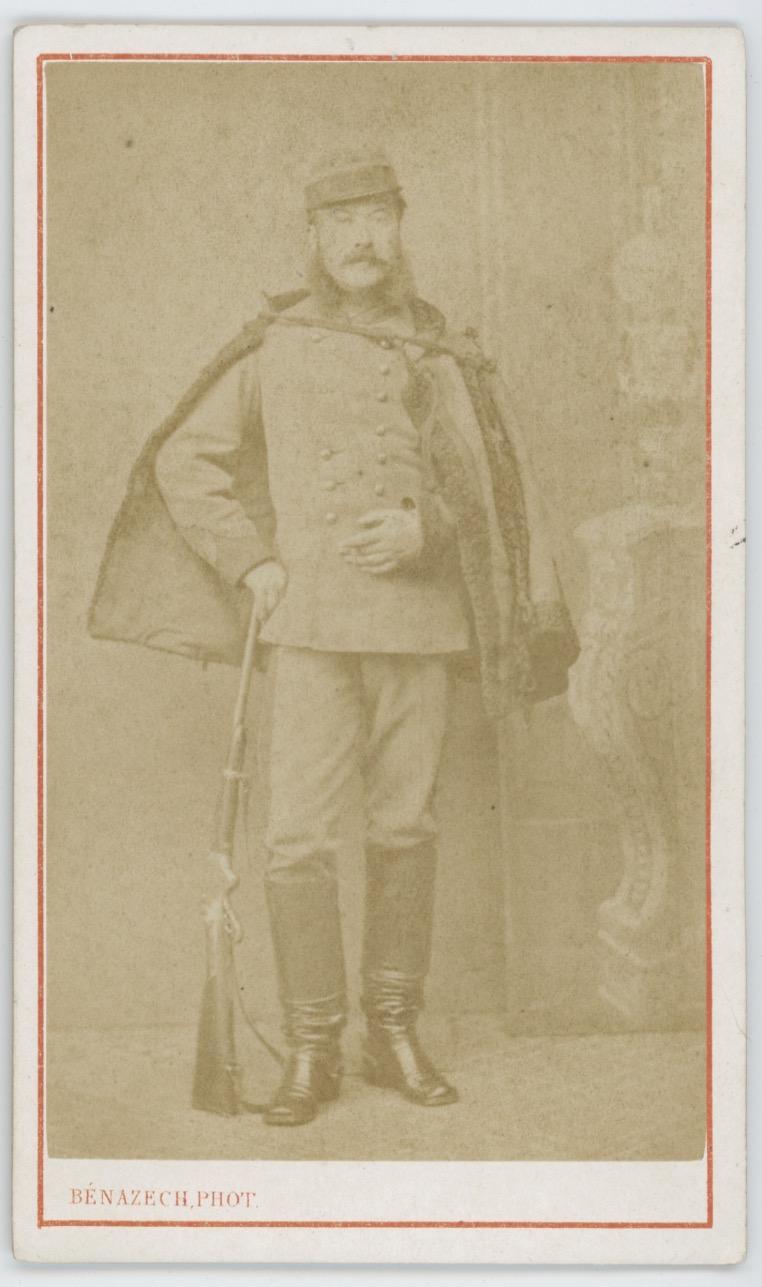 CDV - Ancienne Photographie - Second Empire - Napoléon III - 3ème République - 1871 - Eclaireur de Toulouse - Uniforme