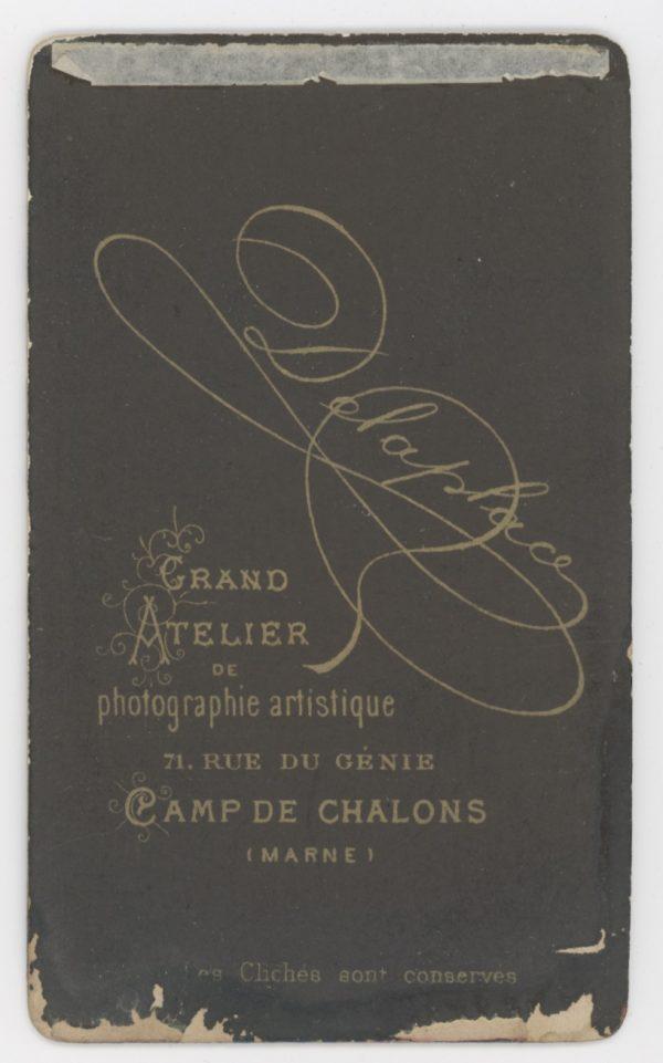 CDV - Ancienne Photographie - 3ème République - Cuirassier - Casque - Cuirasse - Camps de Chalons - Marne