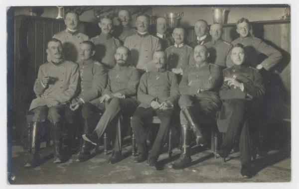 Carte Ancienne Photographie - Guerre 14/18 - Armée Allemande - Tranchée - Grenade - Front Belgique - Infanterie Régiment 99