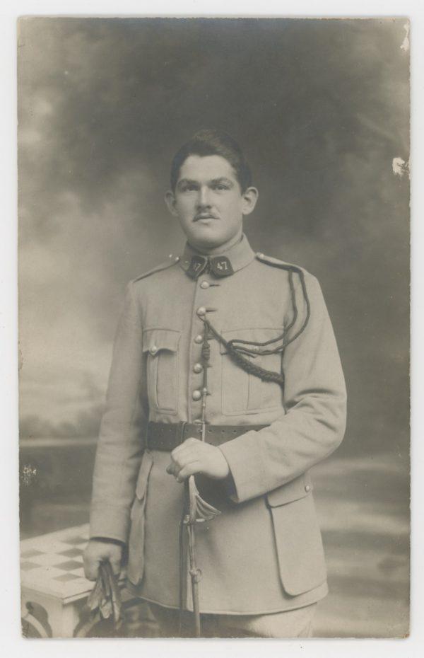 Carte photo Soldat Français - 1933 - Belfort - Infanterie - Alsacien - 47 régiment - Fourragère