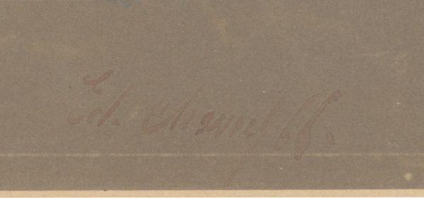 Dessin Aquarelle - Turcos - Tirailleur - 1860 - Uniforme - Second Empire - Napoléon III - 1870
