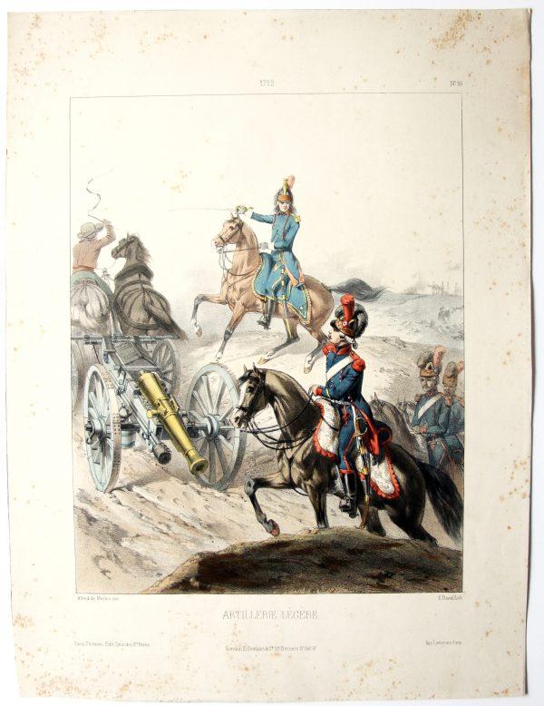 1792 - Artillerie Légère - Uniformes 1792 - Planche 26 - Alfred de Marbot