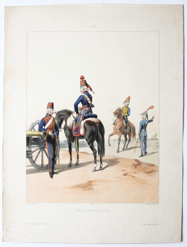1796 - Artillerie Légère - Uniformes 1796 - Planche 26 - Alfred de Marbot