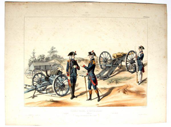 Louis XVI - Corps Royal d'artillerie - Uniformes Louis XV - Planche 277 - Alfred de Marbot
