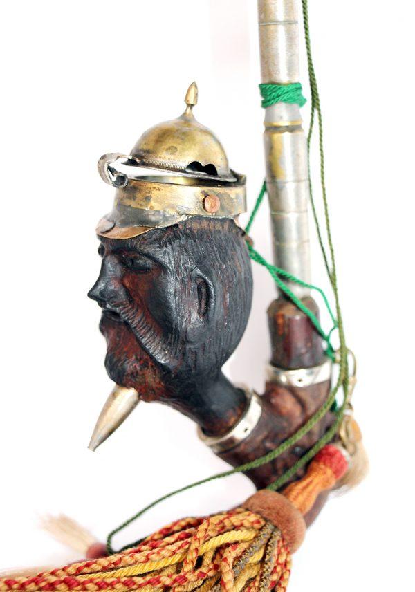 Pipe Artisanale 14/18 - Tranchées - 1er Guerre mondiale - Prusse - Alsacien - Tête d'Empereur - Objet tranchée
