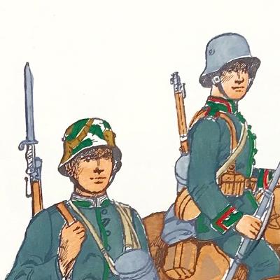 Planche 125 - Heer Und Tradition - Hans Bauer - Uniforme - Deutsches Reich - 1918 - Kavallerie Schutzen - Die Historische Uniformierung - 1968 (Copie)