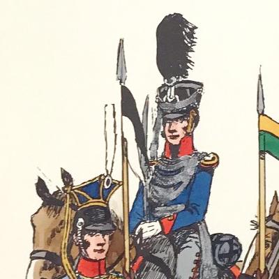 Planche 134 - Heer Und Tradition - Hans Bauer - Uniforme - Preussen Ulanen - 1808-1814 - Kavallerie - Die Historische Uniformierung - 1967