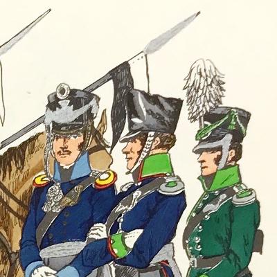 Planche 115- Heer Und Tradition - Hans Bauer - Uniforme - Preussen Landwehr Kavallerie - 1813-1814 - Die Historische Uniformierung - 1967