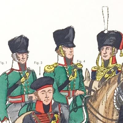 Planche 116- Heer Und Tradition - Hans Bauer - Uniforme - National Kavallerie - 1813-1815 - Die Historische Uniformierung - 1967