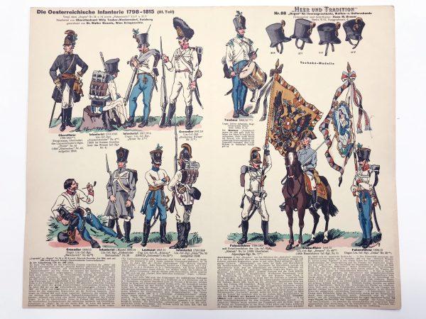 Planche 88 - Heer Und Tradition - Hans Bauer - Uniforme - Österreichische Infanterie - 1798-1815 - Die Historische Uniformierung