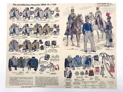 Planche 44- Heer Und Tradition - Hans Bauer - Uniforme - Preussischen Husaren - 1808-1814 - Die Historische Uniformierung