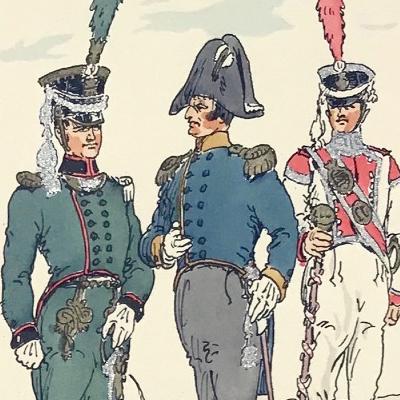 Planche 46 - Heer Und Tradition - Hans Bauer - Uniforme - Sächsische Infanterie - 1810 -1815 - Die Historische Uniformierung
