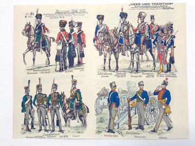 Planche 94 - Heer Und Tradition - Hans Bauer - Uniforme - Hannover - 1806 -1815 - Die Historische Uniformierung