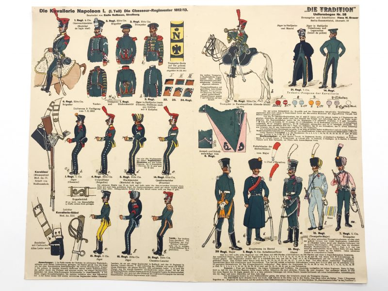 Planche 58 - Heer Und Tradition - Hans Bauer - Uniforme - Napoleon 1er Kavallerie - 1812 -1813 - Die Historische Uniformierung