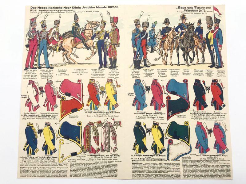 Planche 74 - Heer Und Tradition - Hans Bauer - Uniforme - Joachim Murat - Neapolitanische Kavallerie - 1812- 1815 - Die Historische Uniformierung