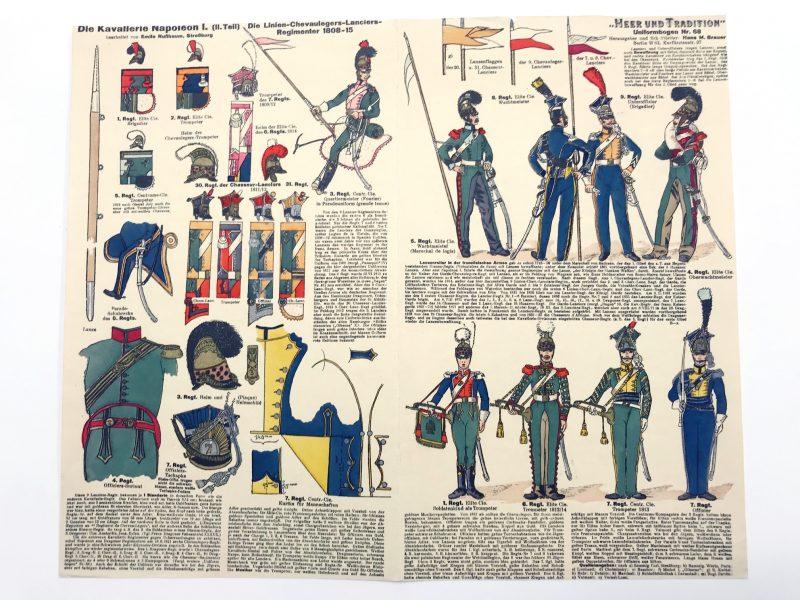 Planche 68 - Heer Und Tradition - Hans Bauer - Uniforme - Napoleon 1er Kavallerie - 1812 -1813 - Die Historische Uniformierung