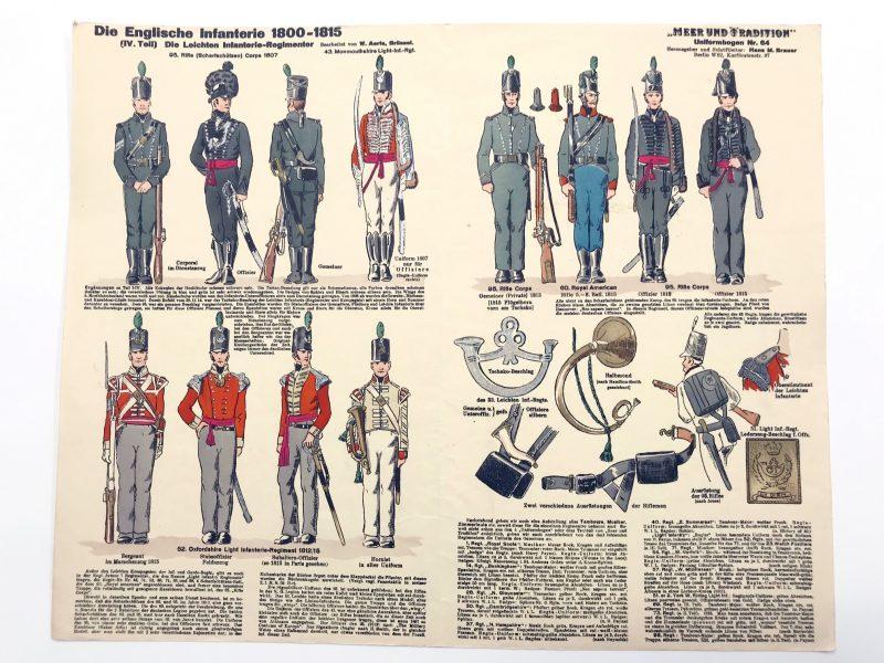 Planche 64 - Heer Und Tradition - Hans Bauer - Uniforme - Englische Infanterie - 1800 -1815 - Die Historische Uniformierung